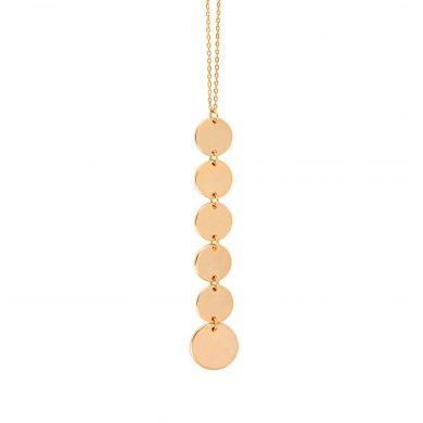 lange Goldkette mit Pailletten Anhänger Madeleine Issing