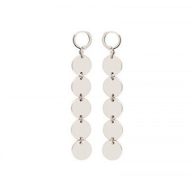 lange Silber Ohrringe mit Pailletten Madeleine Issing