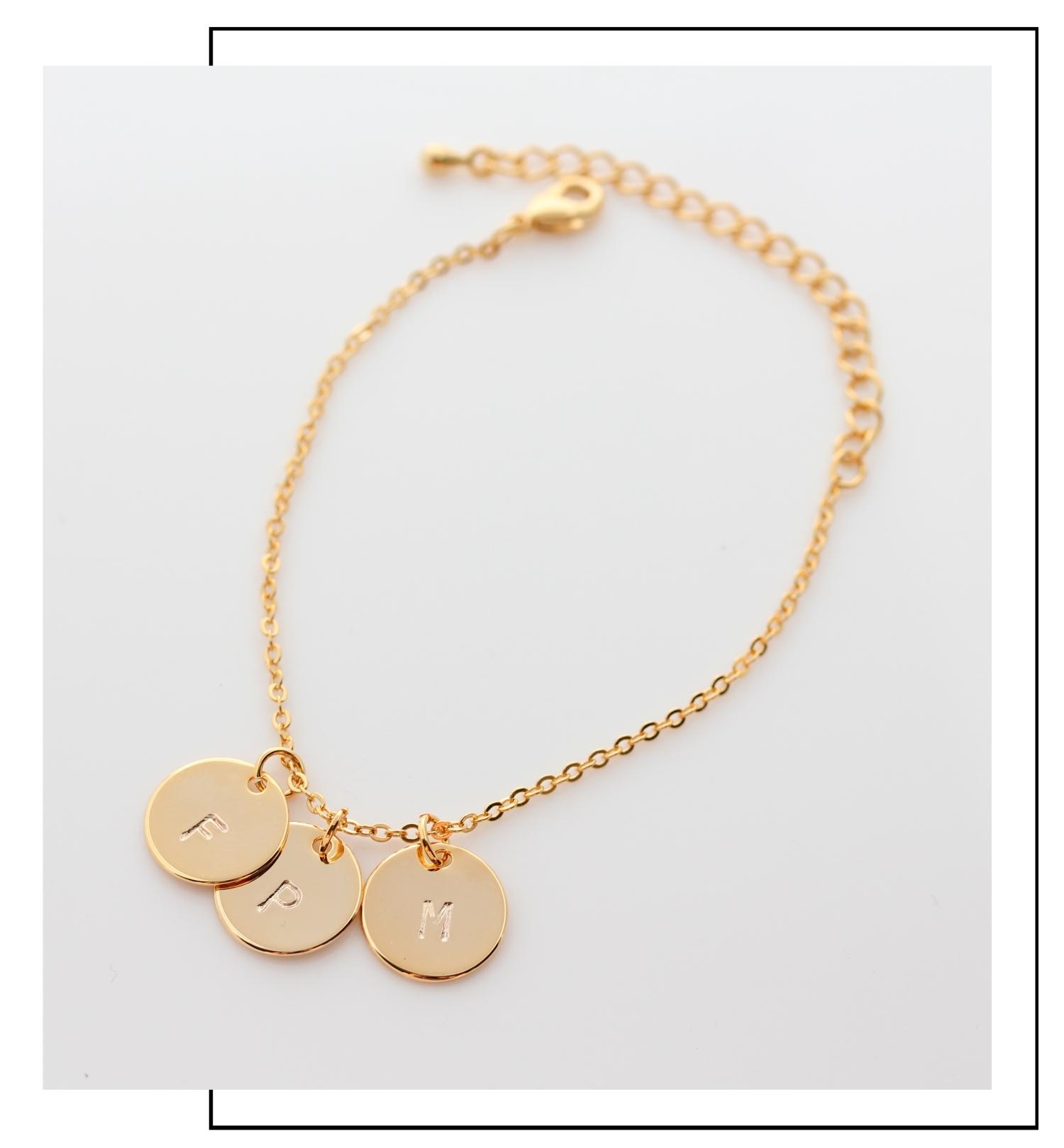 Armband mit Goldplättchen Madeleine Issing