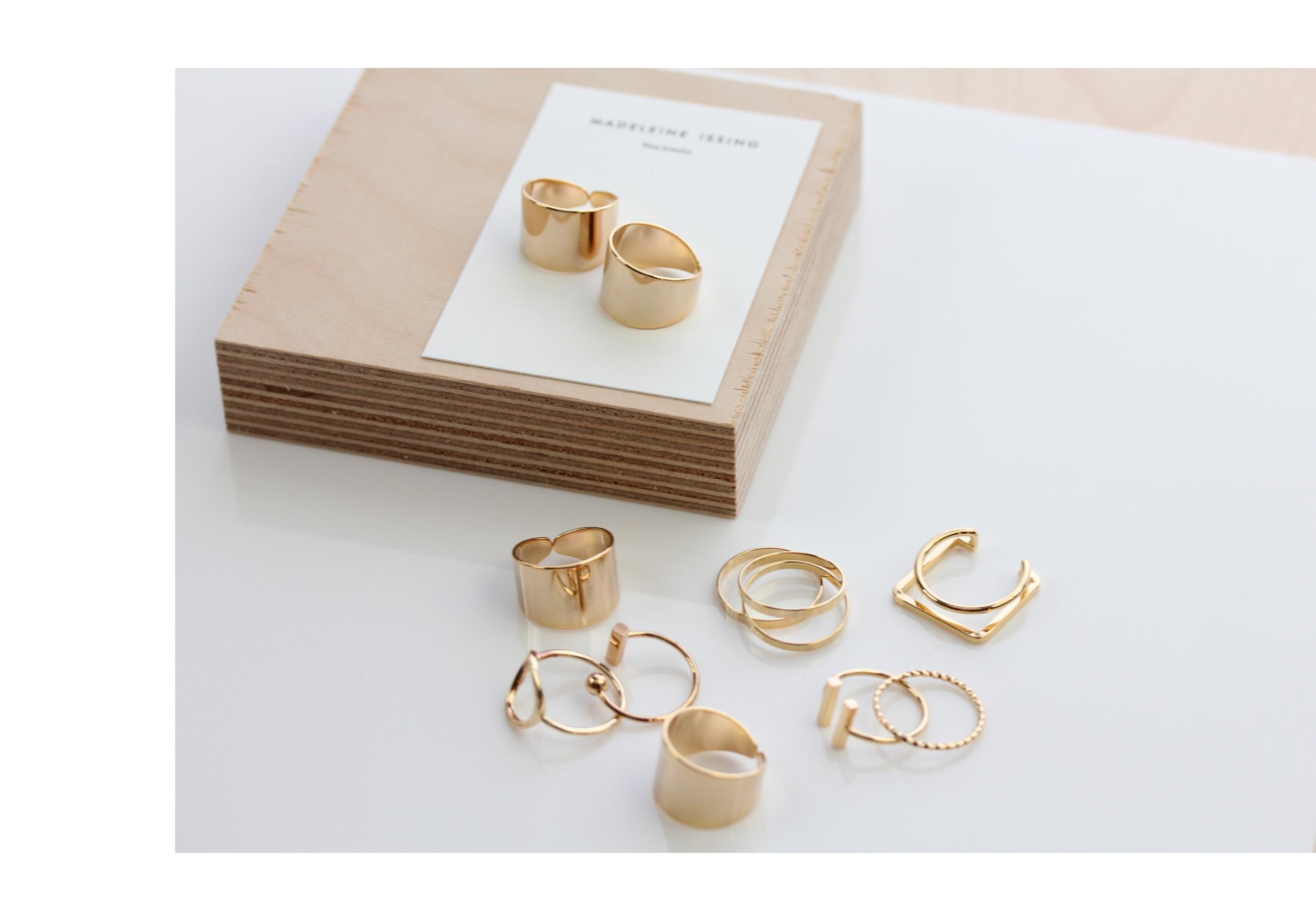 Dreifach Ringe in Gold und Silber Madeleine Issing