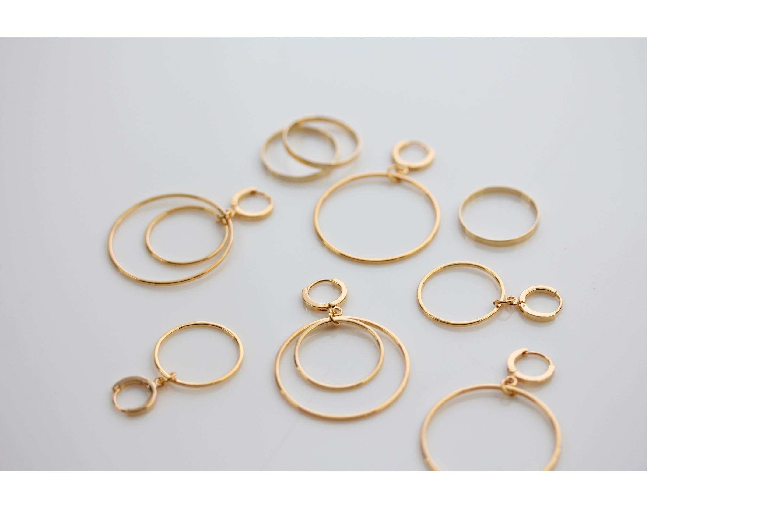 Kreis Ohrringe in Gold Madeleine Issing