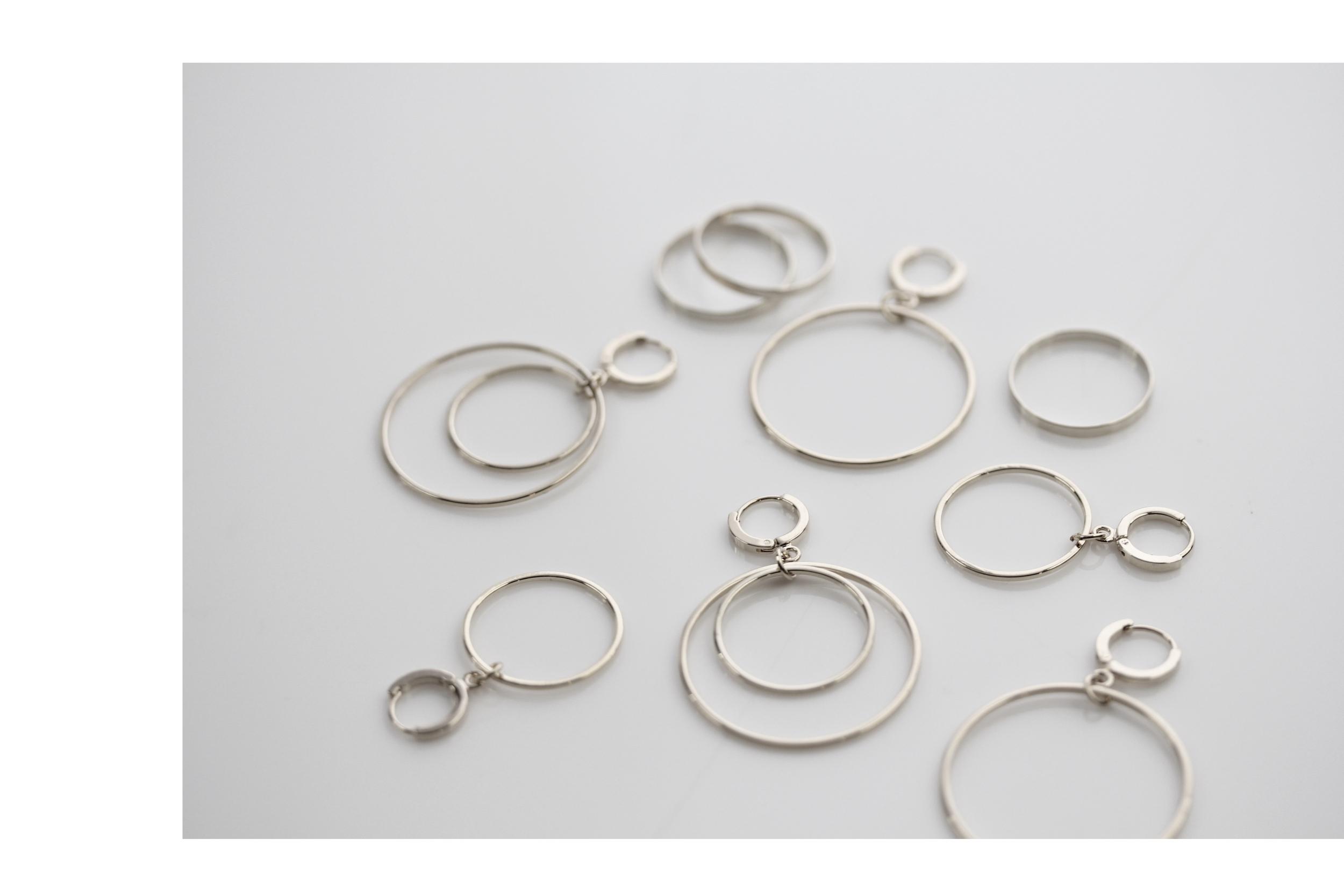Kreis Ohrringe in Silber Madeleine Issing