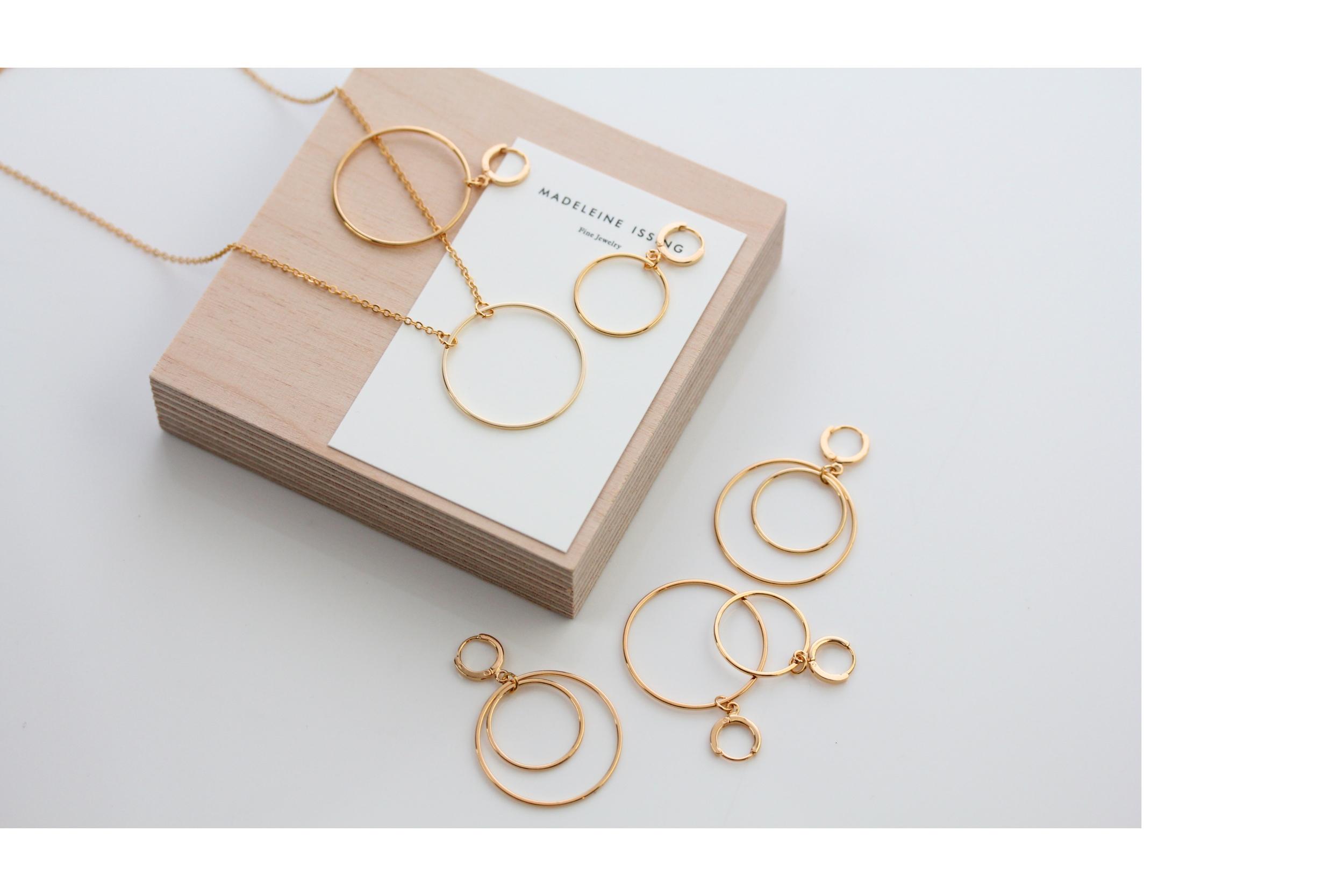 Ohrringe Kreis Förmig Gold vergoldet Madeleine Issing