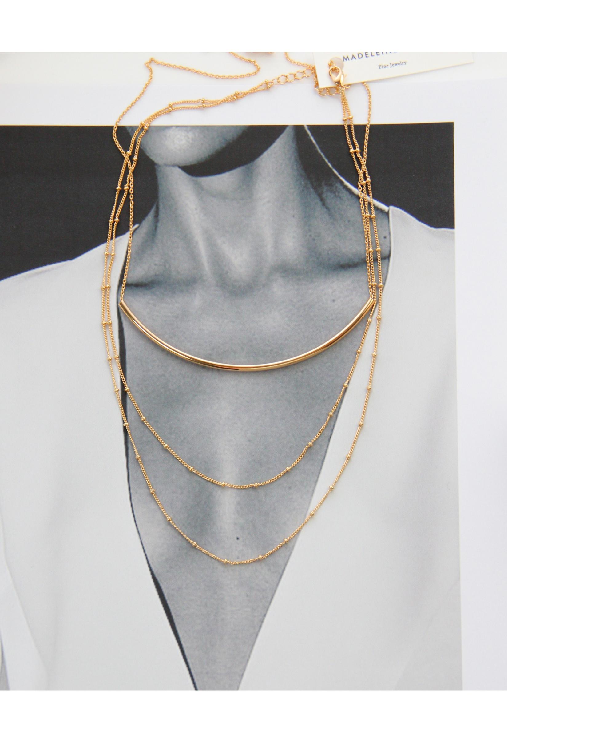 eng anliegene Halskette Gold Madeleine Issing