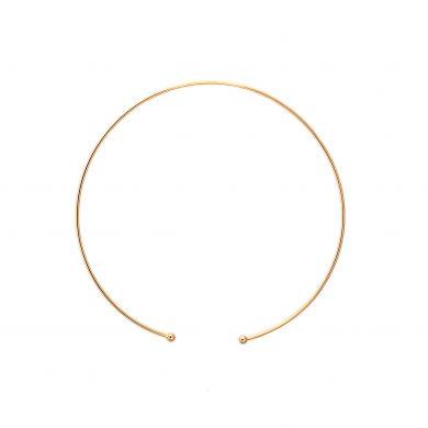 minimalistischer Halsreif Gold vergoldet Madeleine Issing