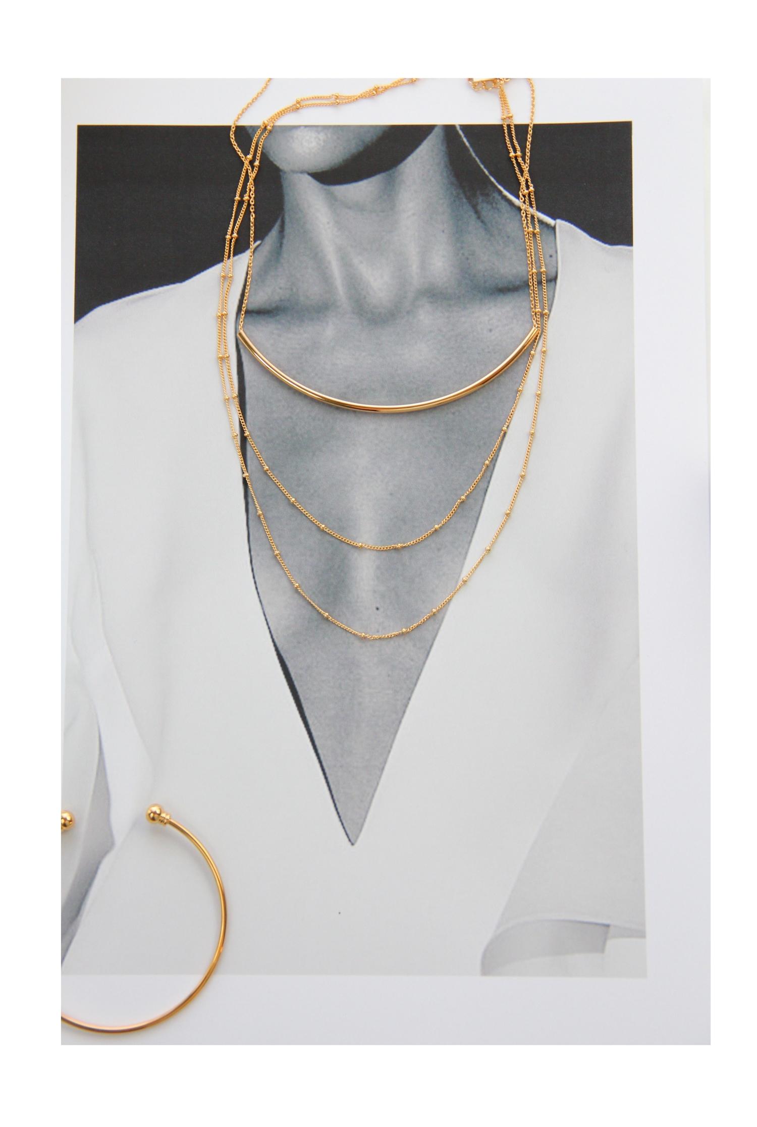 Gold Choker Halsketten vergoldet Madeleine Issing