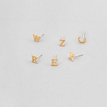 Buchstaben Ohrstecker Gold vergoldet Madeleine Issing