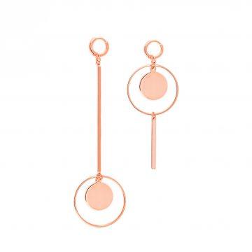Designer Statement Ohrringe Rosegold 2 Madeleine Issing