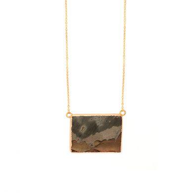 Halskette mit Flussstein Anhänger Madeleine Issing