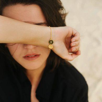 feines Armband mit Namen Gold vergoldet Madeleine Issing