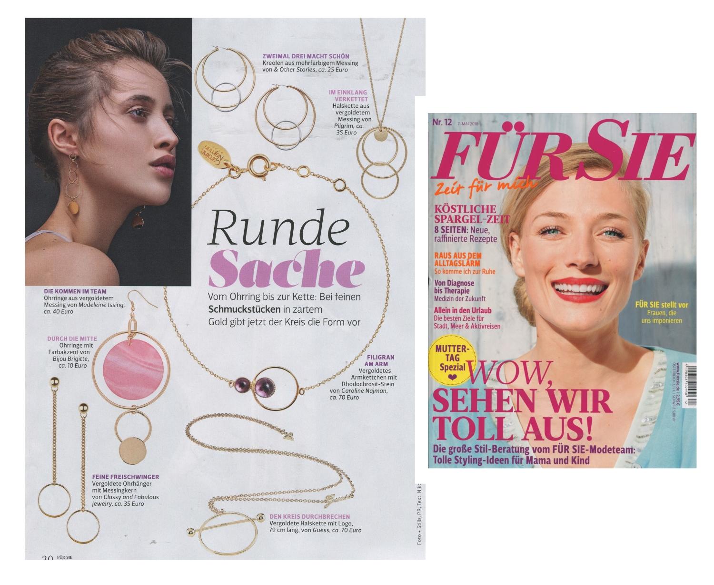 FÜR SIE Magazine Mai 2018 Madeleine Issing