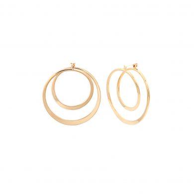 Gold Creolen große runde Ohrringe vergoldet Madeleine Issing