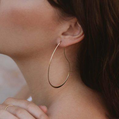 Goldohrringe große Ohrhänger vergoldet Madeleine Issing
