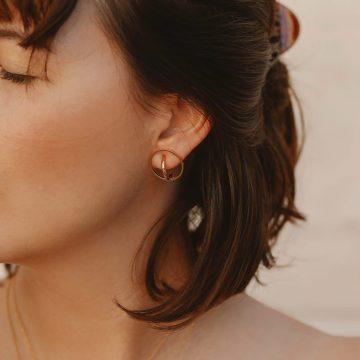 Ohrringe Stecker Gold vergoldet rund Madeleine Issing