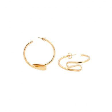 Design Ohrringe Gold Creolen vergoldet Madeleine Issing