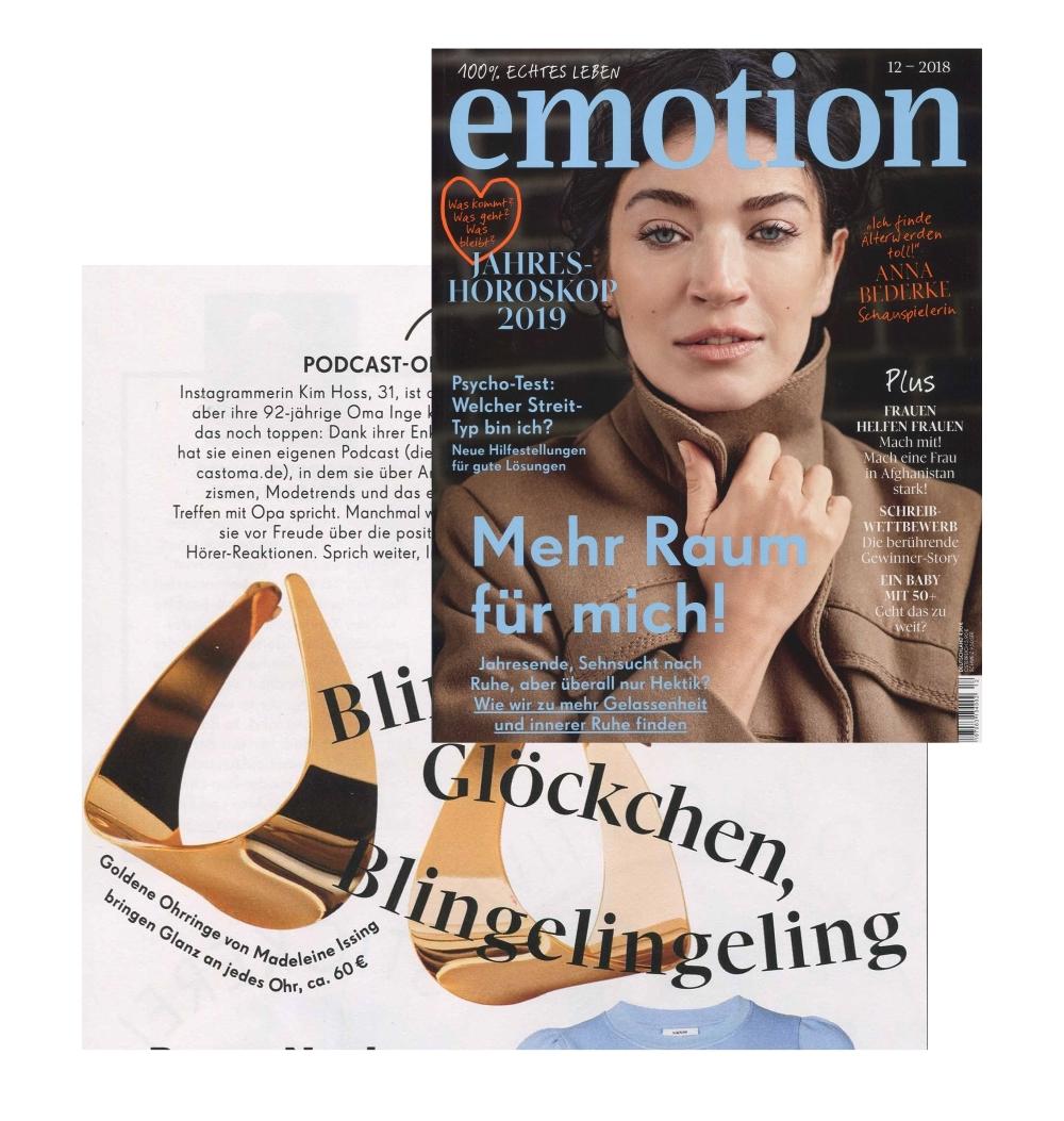 Emotions Magazin Dezember 2018 Madeleine Issing