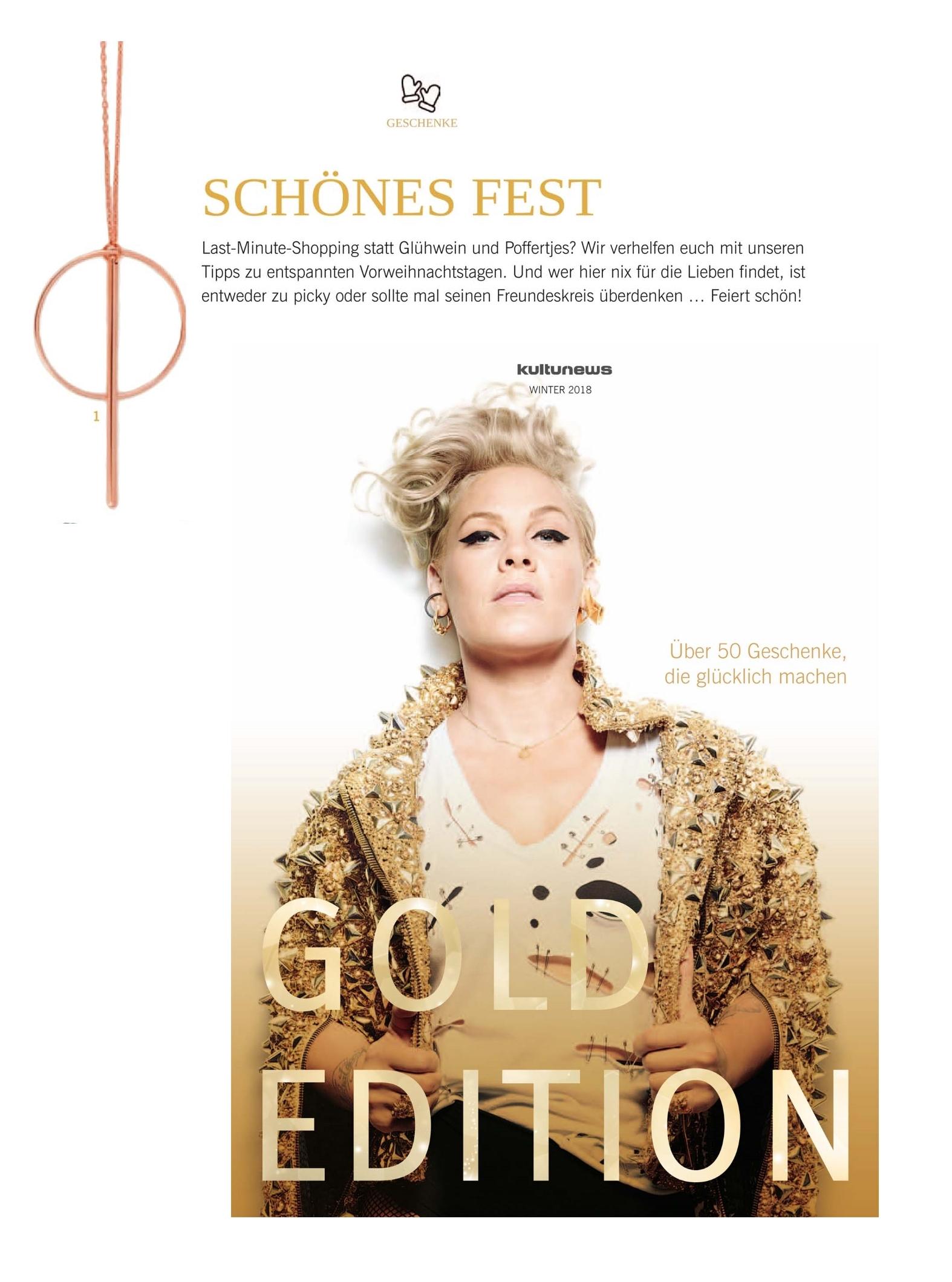Kultur News Gold Novemeber 2018 Madeleine Issing