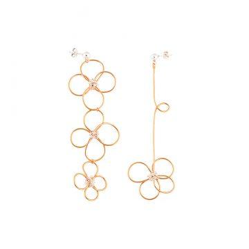 Ohrringe Gold hängend 24 Karat vergoldet Madeleine Issing