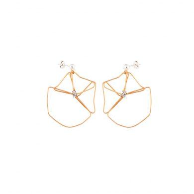 Ohrringe Silber 925 24 Karat Gold vergoldet Madeleine Issing