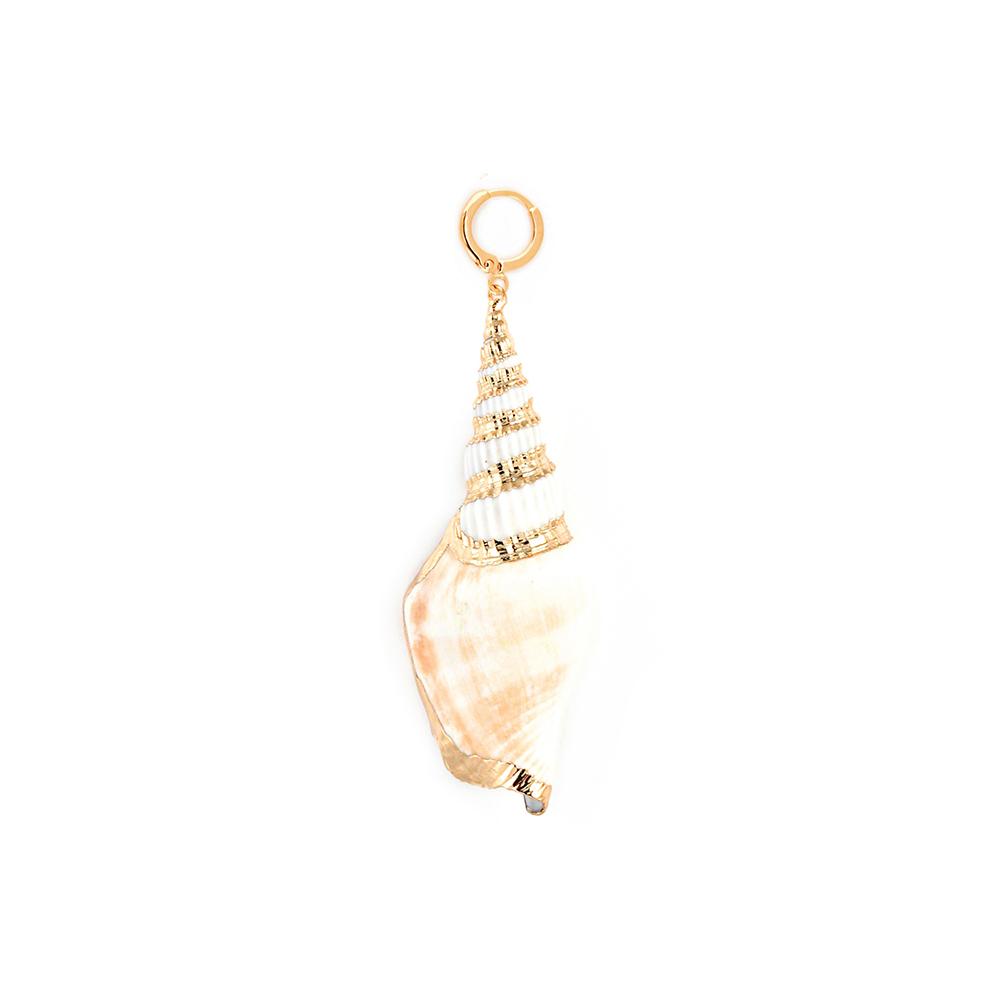 guter Verkauf Preis vergleichen Online-Verkauf Schmuck Muschel Ohrring Gold vergoldet