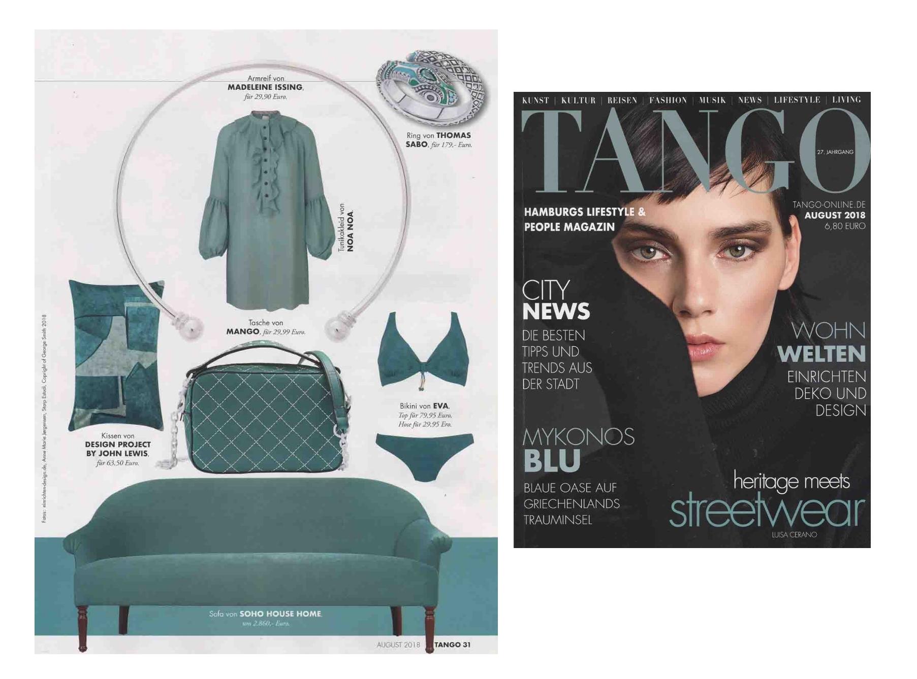 TANGO Magazin August 2018 Madeleine Issing