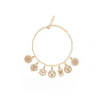 Chakra Armband Gold vergoldet 7 Chakren Madeleine Issing