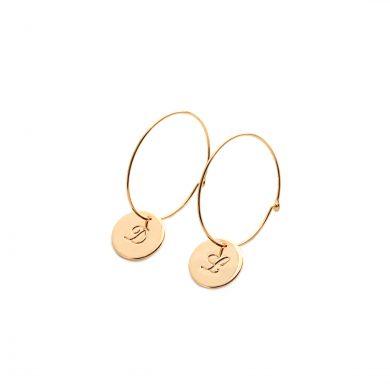 Ohrringe mit Gravur Gold vergoldet Madeleine Issing