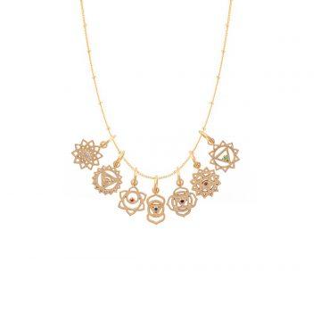 Chakra Kette Gold vergoldet Madeleine Issing