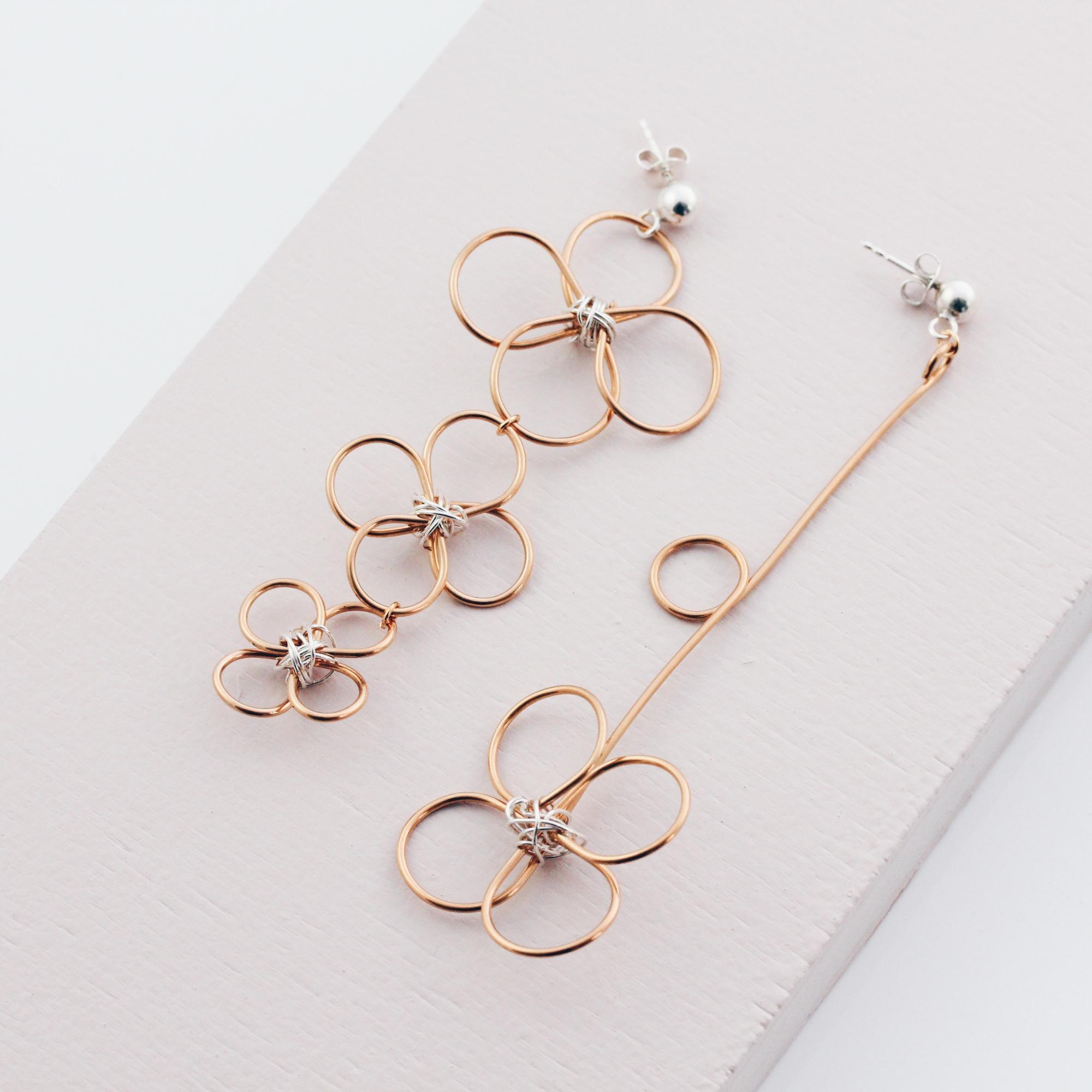 Blumen Ohrringe in Gold und Silber Madeleine Issing