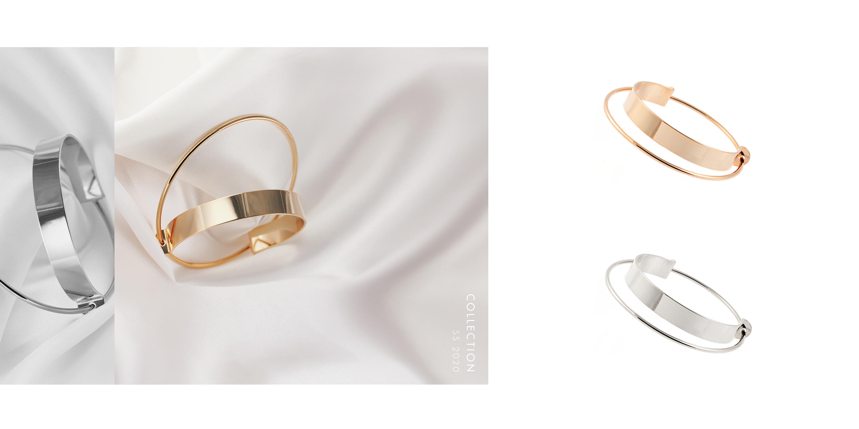 moderne Armspangen Gold vergoldet Madeleine Issing