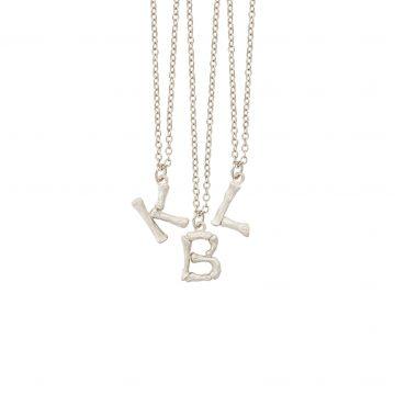 Buchstabenkette Silber Bambus Anhänger Madeleine Issing
