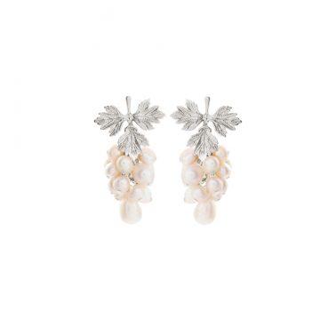 Blatt Ohrringe Silber mit Perlen Anhänger Madeleine Issing