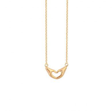 Herz Symbol Kette Gold aus zwei Händen Madeleine Issing