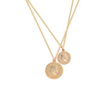 Münzkette Gold vergoldet Doppelkette Madeleine Issing