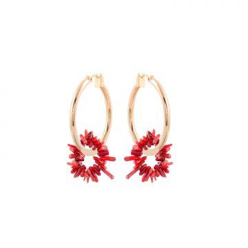 Korallen Ohrringe rot mit echter Koralle Madeleine Issing