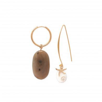 Ohrringe mit Jaspis Stein Gold vergoldet Madeleine Issing