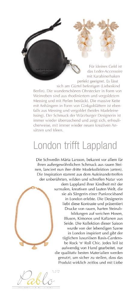 Pablo Magazin Nr. 3 2020 Madeleine Issing