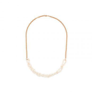 Perlen Collier Gold mit Süßwasserperlen Madeleine Issing