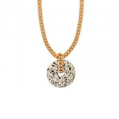 Dalmatinerstein Halskette Gold vergoldet Madeleine Issing