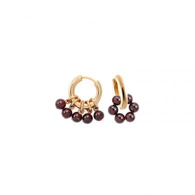 Granat Ohrringe Gold vergoldet Madeleine Issing