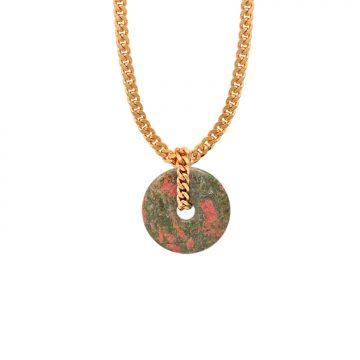 Halskette mit Unakit Stein Madeleine Issing