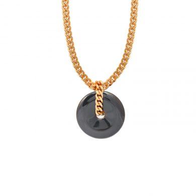 Halskette mit schwarzen Onyx Stein Gold Madeleine Issing