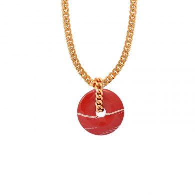 Rote Jaspis Kette Gold vergoldet Madeleine Issing