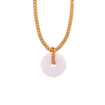 Halskette mit Rosenquarz Donut Gold Madeleine Issing