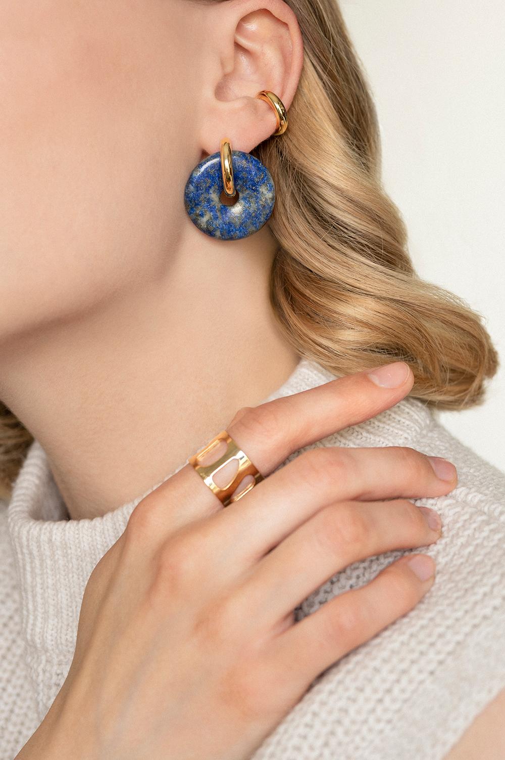 einzigartige Ohrringe mit Steinen in limitierter Auflage Madeleine Issing_2